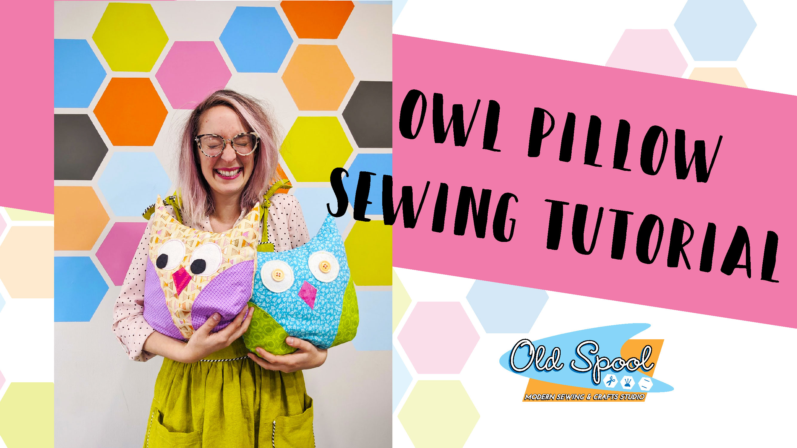 Snuggly Owl Pillow Sewing Pattern and Video Tutorial